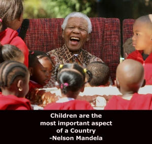 mandela with kids